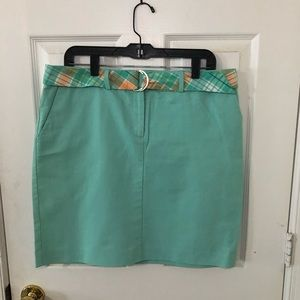 Ann Taylor skirt mint green linen summer skirt